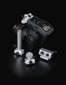 Zoom H6 auf einer DSLR-Kamera