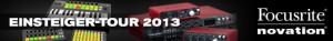 Focusrite & Novation laden ein zur Einsteiger-Tour 2013