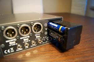 Fostex FM-3 Batteriefach im Schacht
