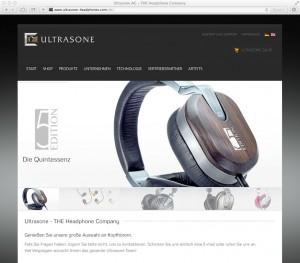 Die neue Ultrasone Webseite