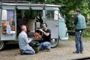 Gordon, Martin und Nick zu Beginn der Dreharbeiten (Foto: Kari Wilton)