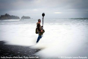 Gordon Hempton am Rialto Beach (Foto: Christopher Lamarca Photography)
