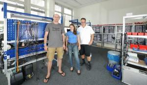 Sound Devices Europe GmbH Mitarbeiter Sven Roederer, Ginetta Fassio und Axel Wilhelm (v.l.n.r.)