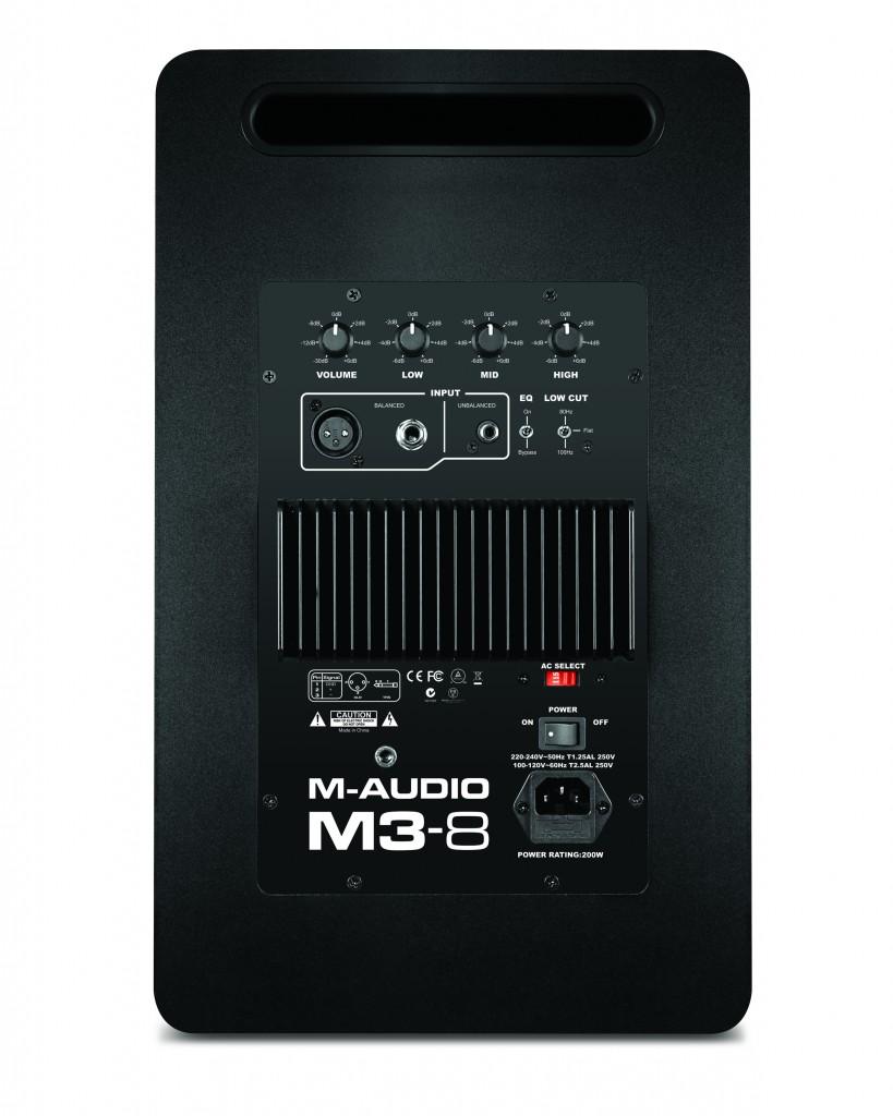 m audio liefert studiomonitor m3 8 aus. Black Bedroom Furniture Sets. Home Design Ideas